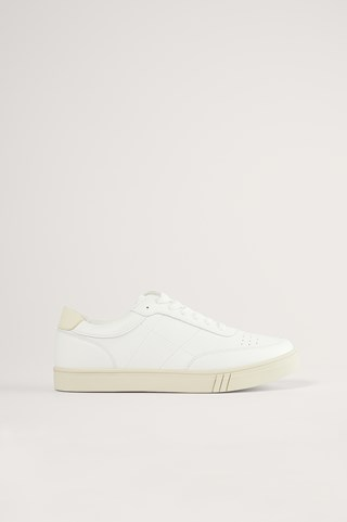 White Classic Court Trainers