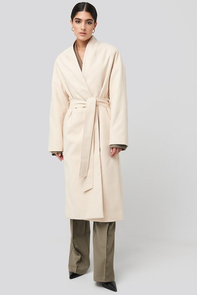 Classic Long Coat Offwhite