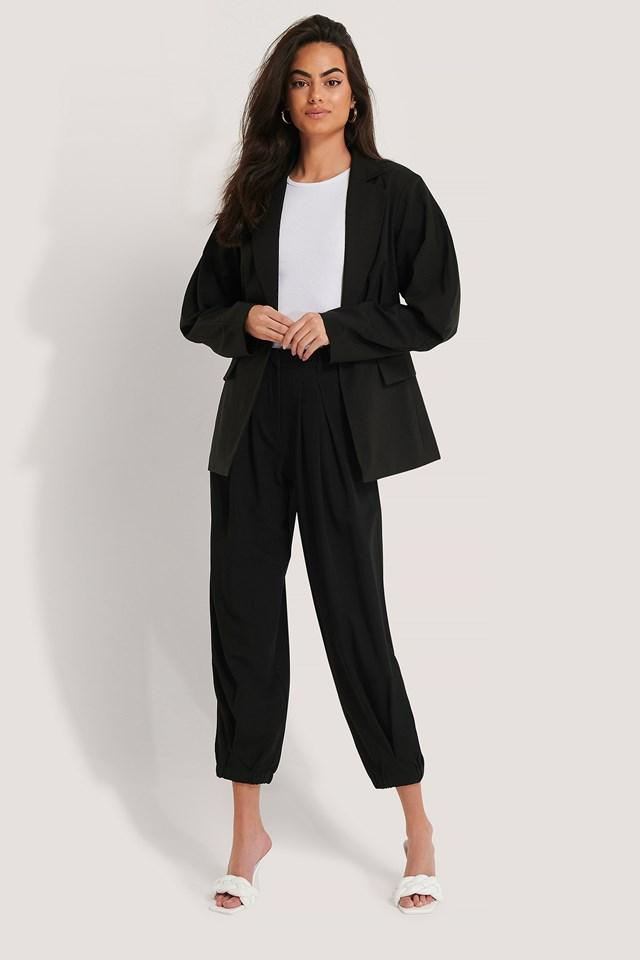 Cocoon Elastic Suit Pants Black