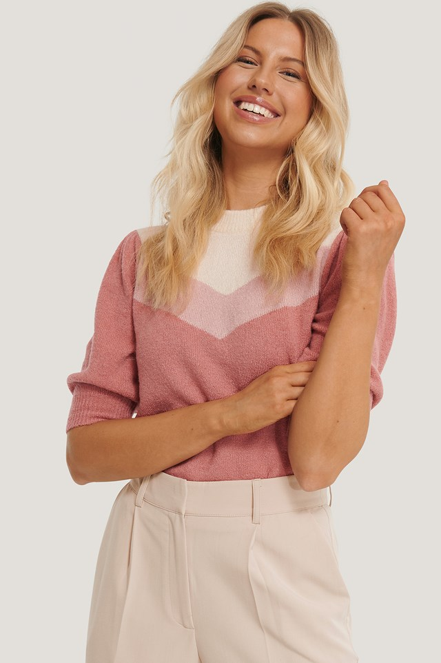 Colorblock Knitted Top Multicolor