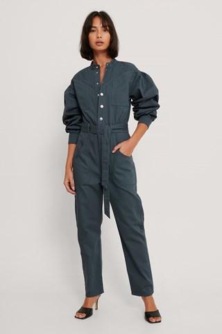 Blue Colored Denim Jumpsuit