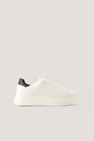 White/Black Contrast Counter Trainers