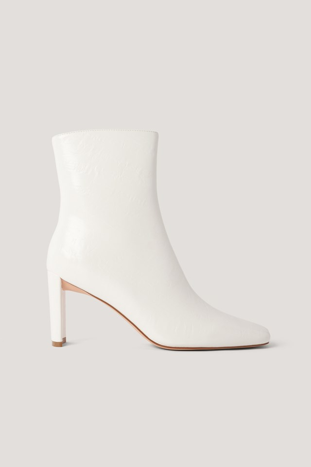 Creased Upper Booties White