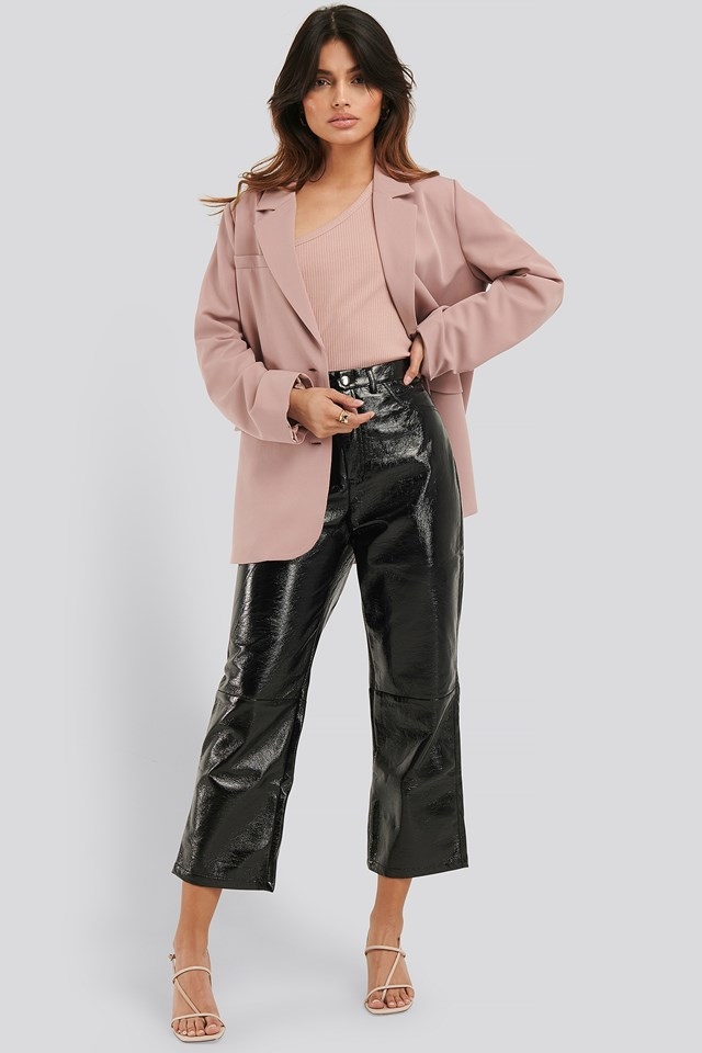 Cropped Patent Pants NA-KD Trend
