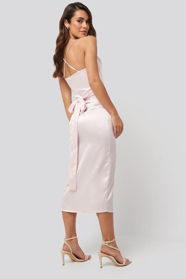 Cross Back Belted Dress Violet