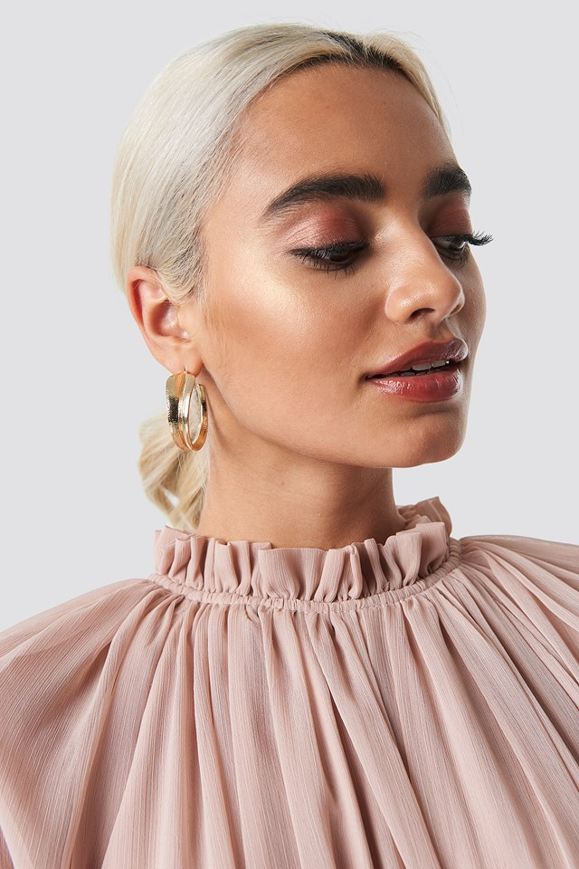Curved Leaf Earrings NA-KD Accessories