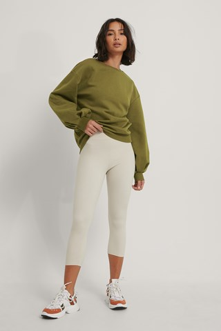Green Cut Out Oversized Sweatshirt
