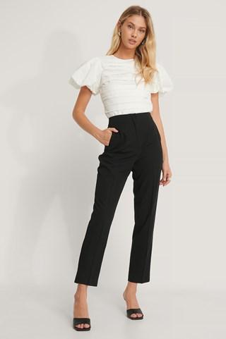 Black Darted Pants