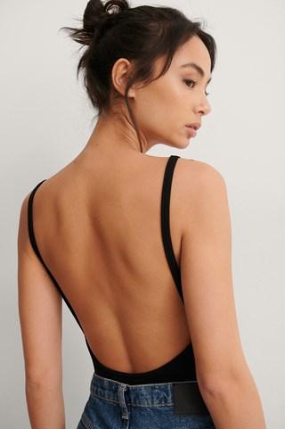 Black Organic Deep Back Rib Body