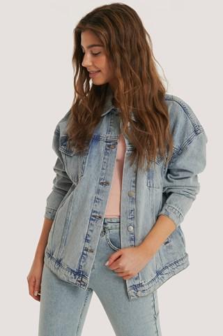 Light Blue Denim Oversized Jacket
