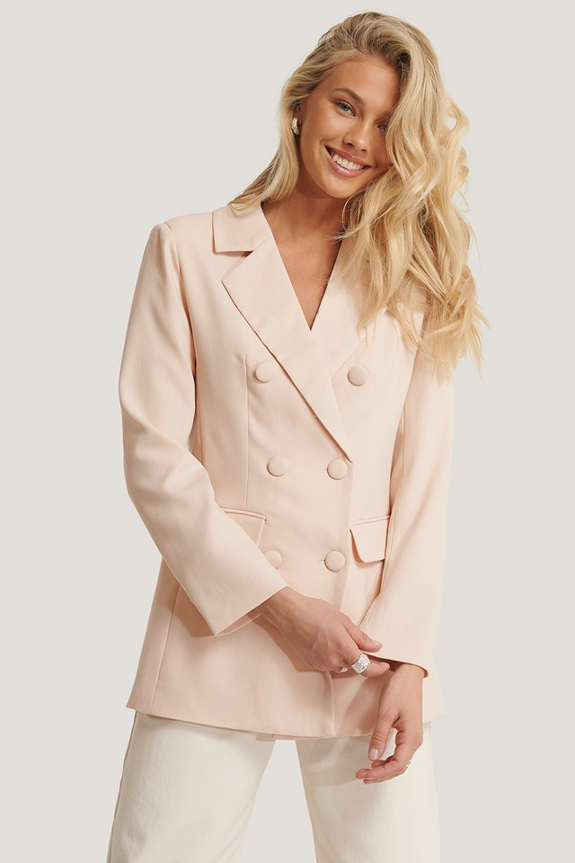 Double Breasted Blazer Cream