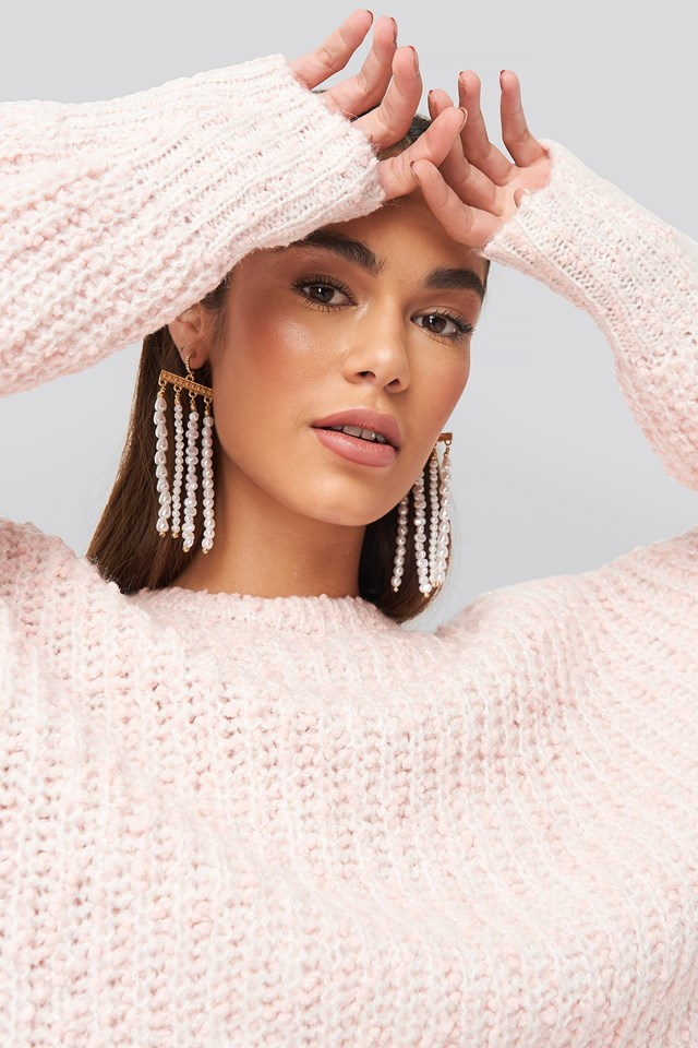 Drop Pearl Chain Earrings NA-KD Accessories
