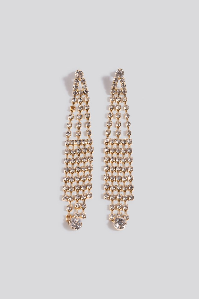 Dropping Strass Earrings NA-KD Accessories