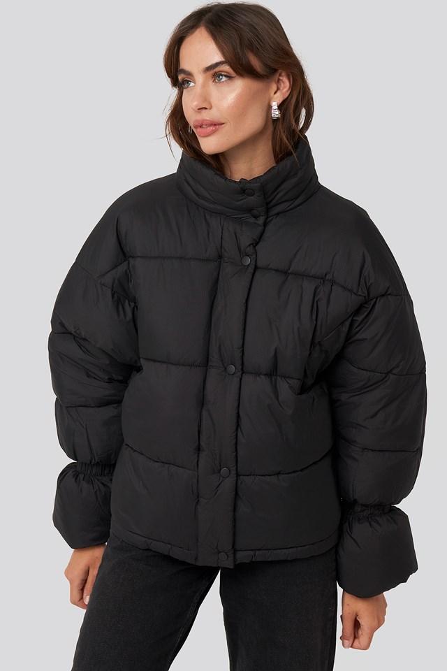 Elastic Detail Puffer Jacket NA-KD Trend