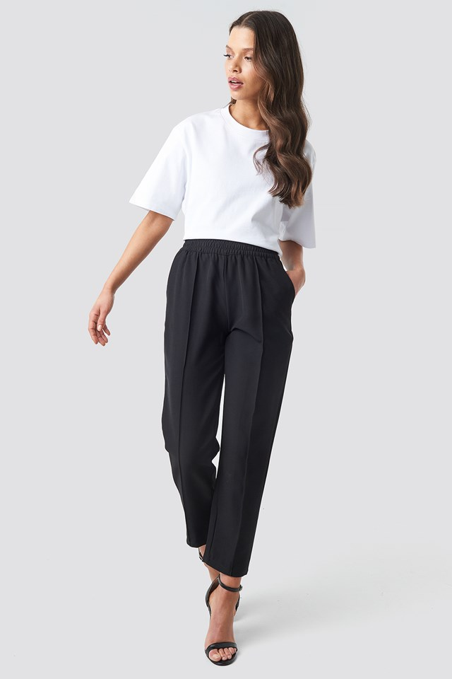 Elastic Waist Seamline Pants NA-KD