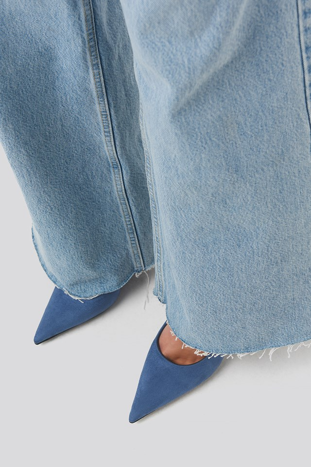 Extreme Pointy Stiletto Pumps Blue