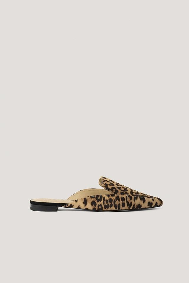 Fake Fur Slippers Leopard
