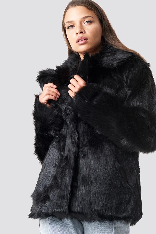 Faux Fur Collar Jacket NA-KD Trend