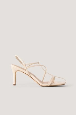 Natural Fine Front Straps Sandals