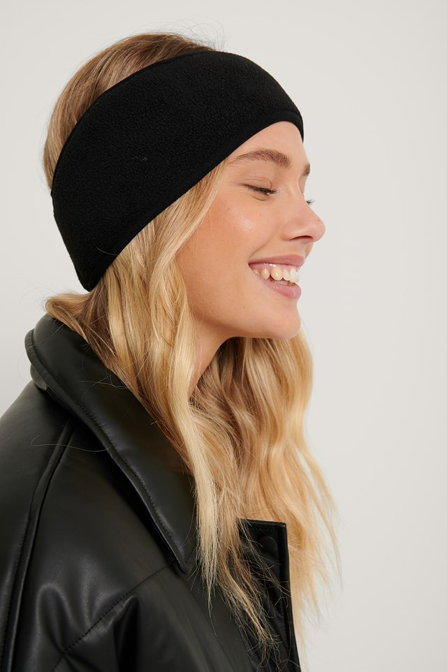 Fleece Headband Black