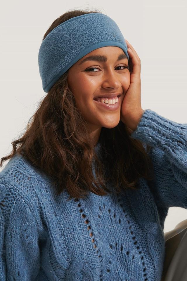 Fleece Headband Stone Blue