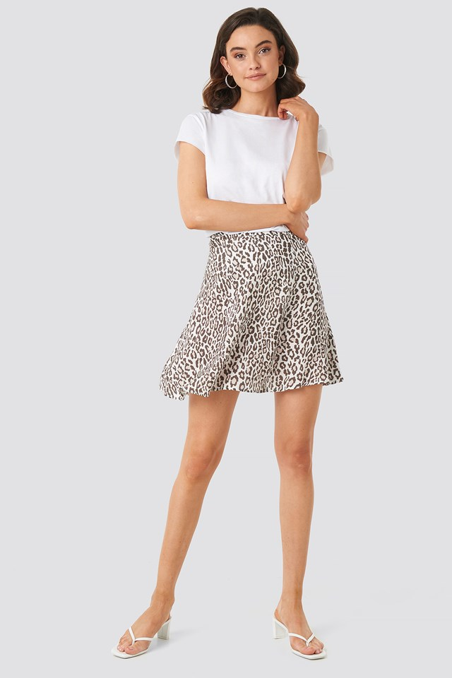 Flowing Skirt Leopard
