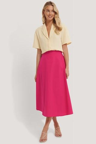 Fuchsia Flowy Skirt