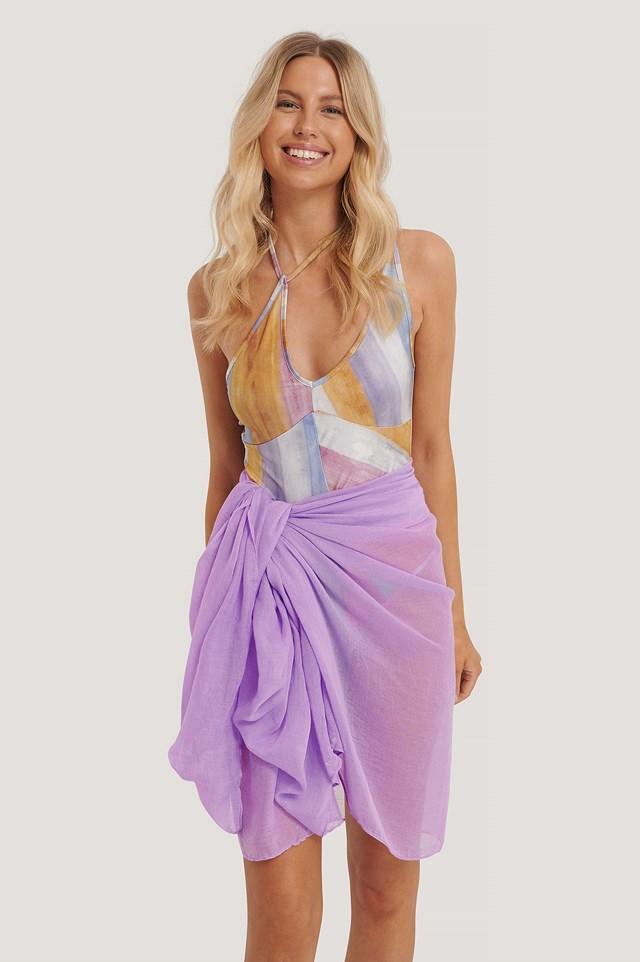 Flowy Thin Woven Scarf Lilac