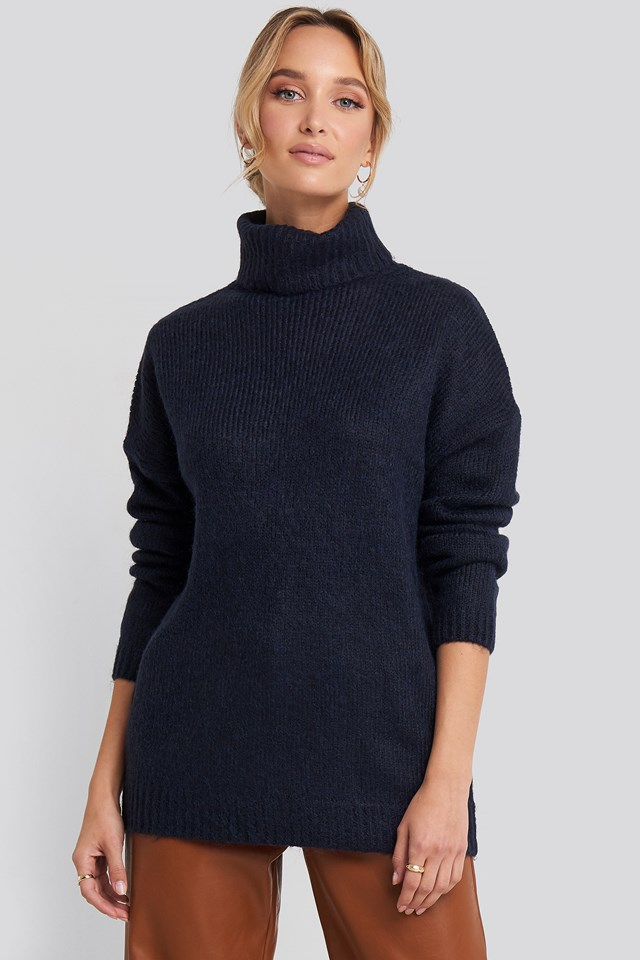 Folded Oversized Knitted Sweater NA-KD