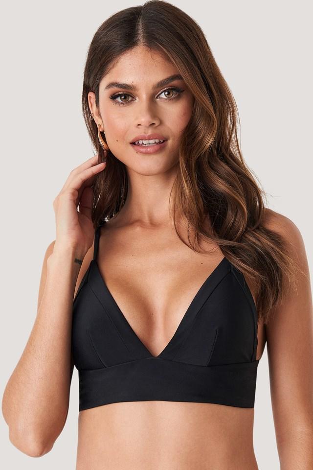 Framed Bikini Bralette Black