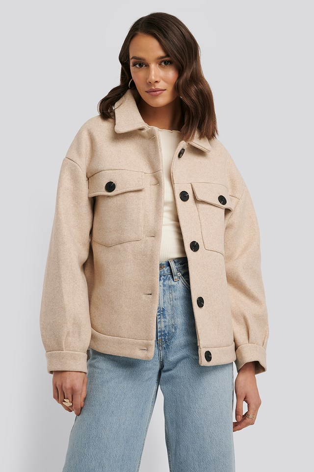 Front Pocket Oversized Jacket NA-KD