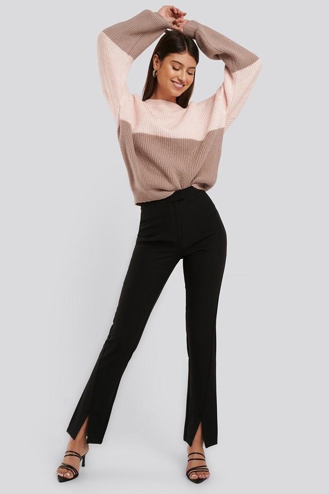 Front Slit Suit Pants NA-KD