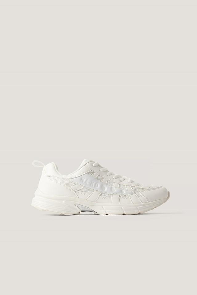 White/White Glozzy Sneaker