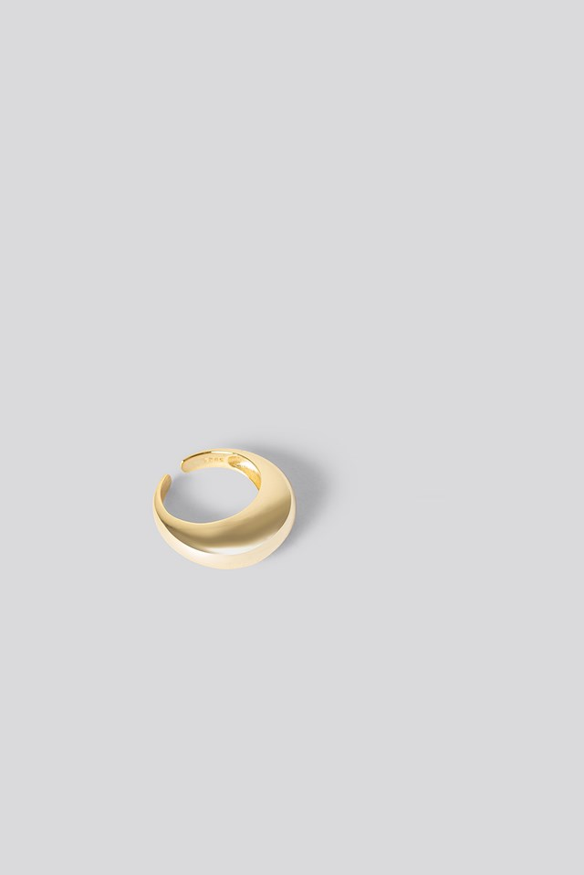 Gold Gold Plated Chunky Ring