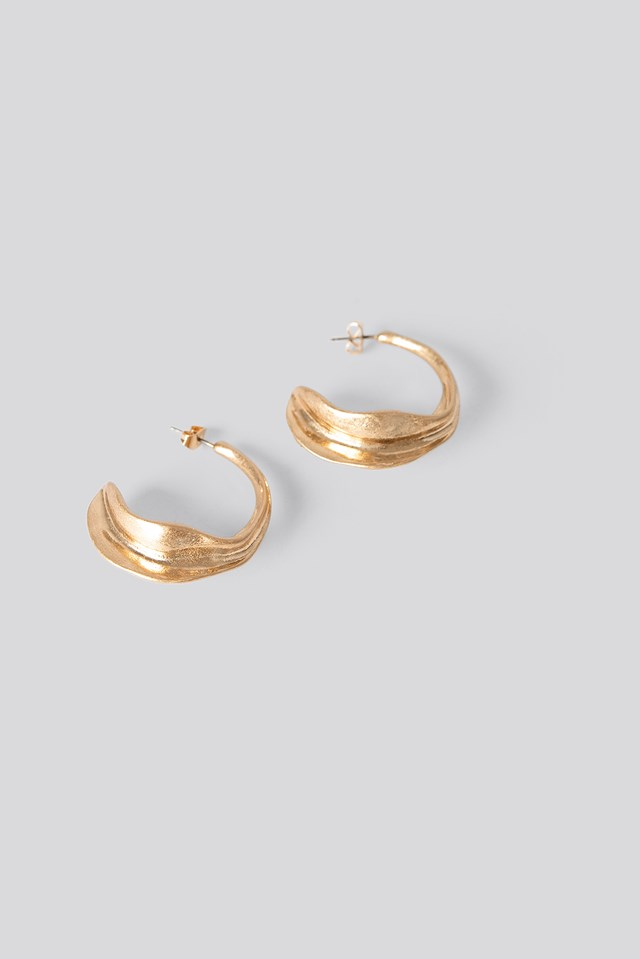 Half Hoop Structured Earrings NA-KD Accessories