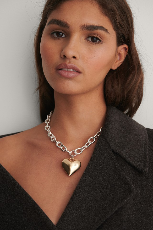 Heart Pendant Necklace Silver/Gold