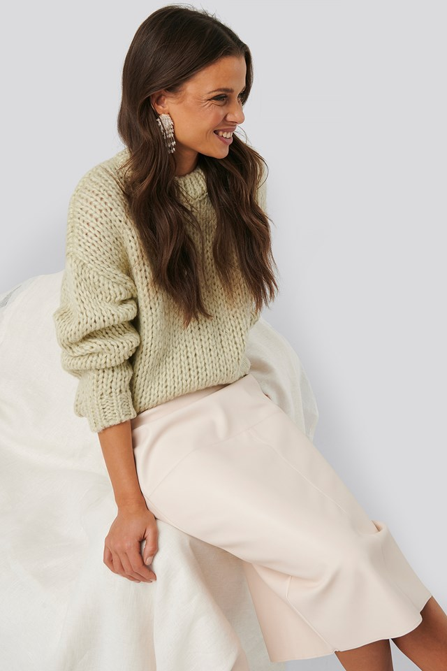 Heavy Knitted Sweater NA-KD Trend