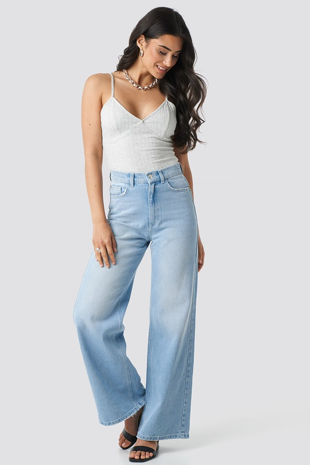High Rise Flare Jeans NA-KD