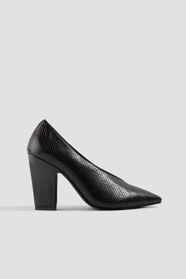 High Vamp Pointy Pumps NA-KD Shoes