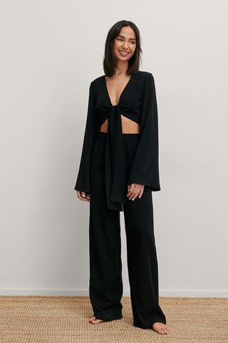 Black High Waist Loose Pants
