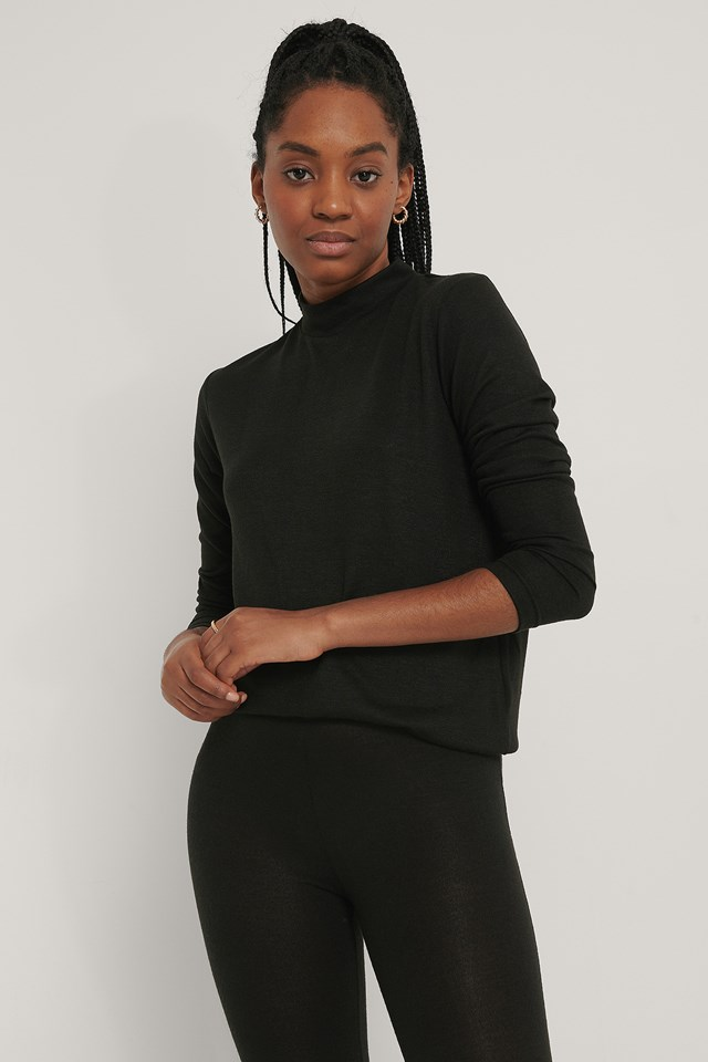 Highneck Soft Lounge Sweater Black
