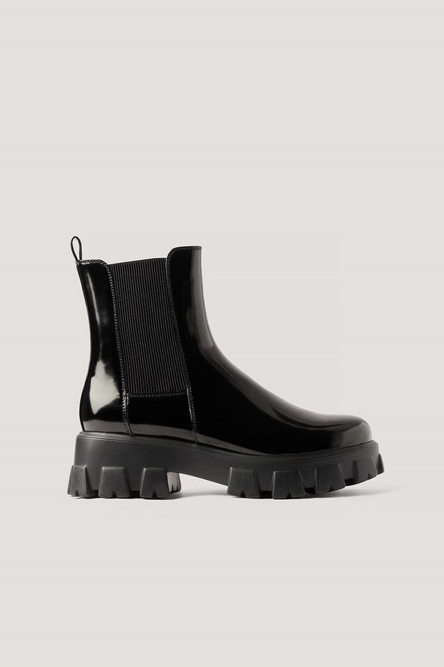 Chunky Sole Boots Black