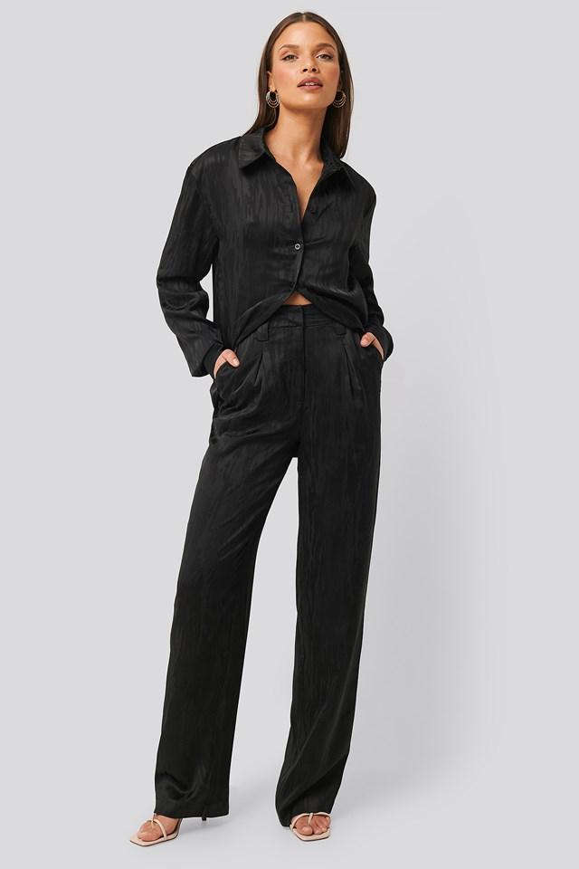 Jacquard Suit Pants Black