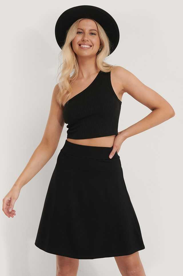 Jersey Mini Skirt Black