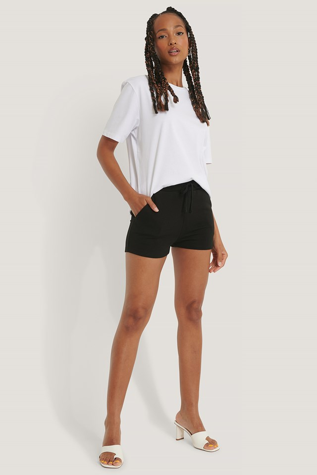 Organic Jersey Shorts Black
