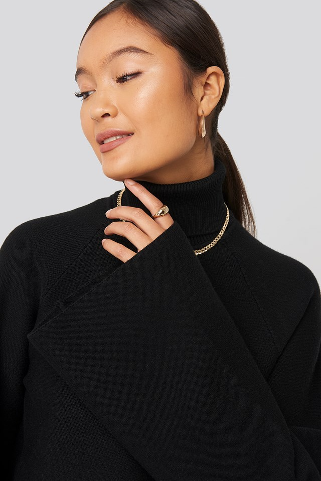 Joann Van Den Herik  Polo Neck Knitted Sweater Statement By NA-KD Influencers