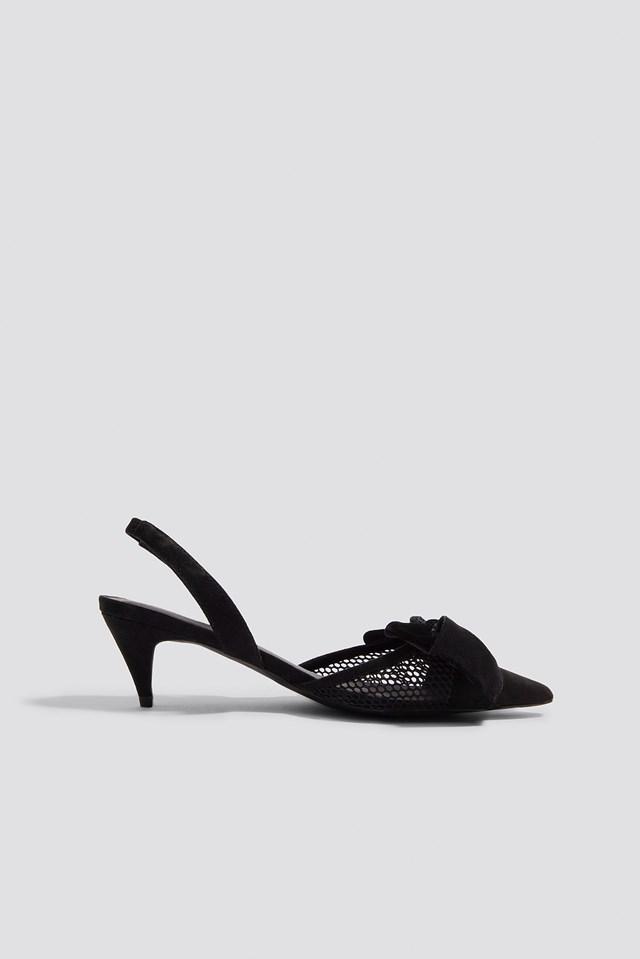 Kitten Heel Mesh Pumps NA-KD Shoes