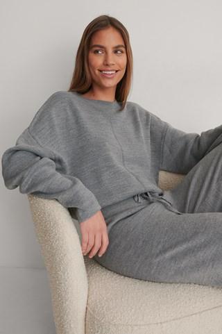 Grey Melange Knitted Top