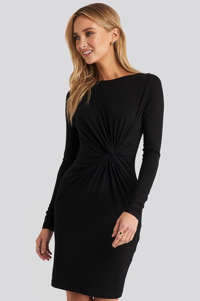 Knot Detail Dress Black