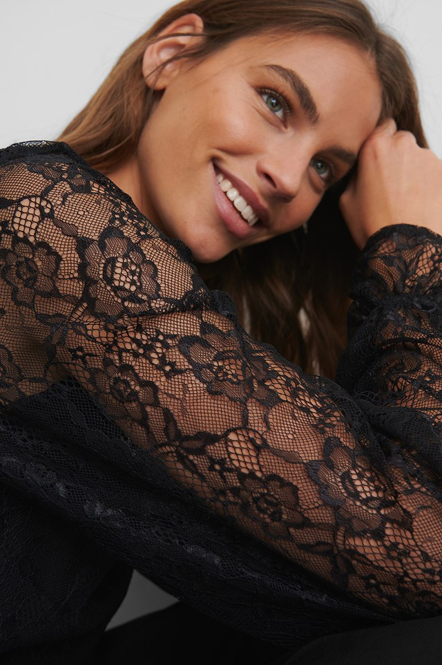 Lace Blouse Black